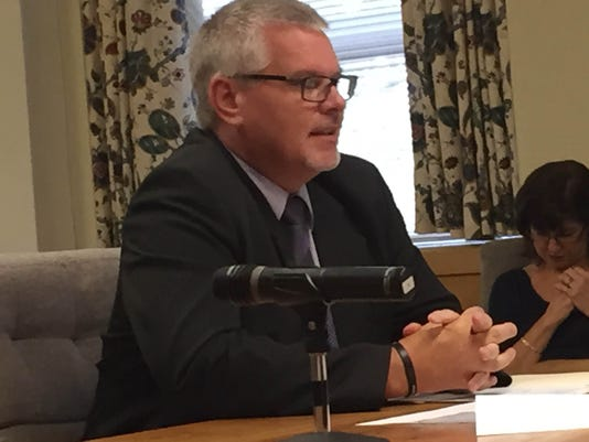 Jim Donmoyer, executive director of the Lebanon County Commission on Drug and Alcohol Abuse, discusses a new four-month, in-patient treatment program his office will offer, at Thursday's Lebanon County commissioners' meeting.