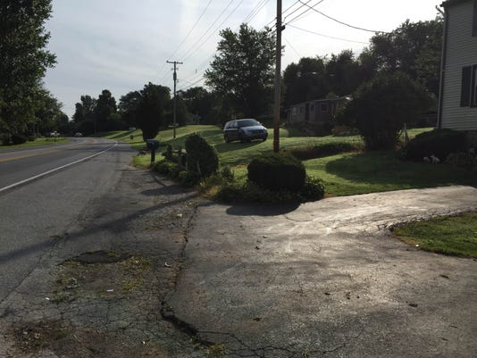 A view of West College Avenue in West Manchester Township where last night's crash occurred.