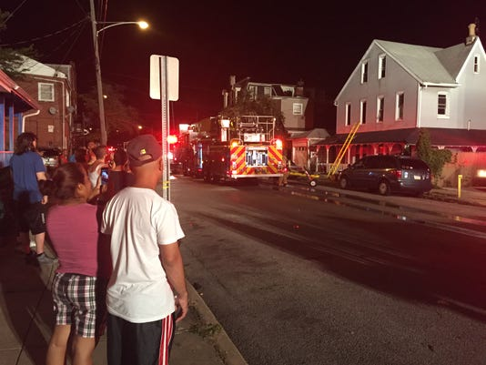 Emergency crews responded to a fire Sunday night in York city.