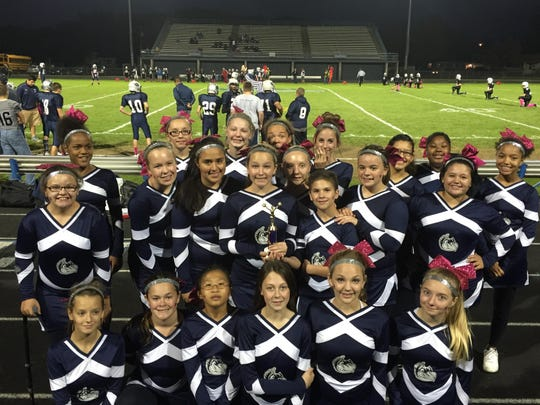 The Menasha High School cheer team placed second at the Spirit Challenge, which was held Sept. 20 during the Fox Cities Marathon. The team competed against six other varsity and middle school teams.