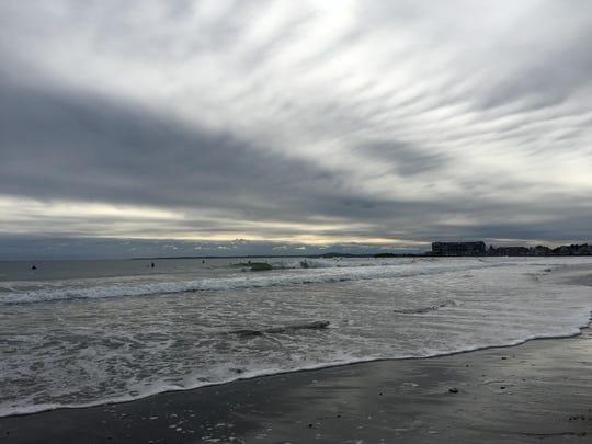 The Atlantic Ocean from Kennebunk Beach in Maine.