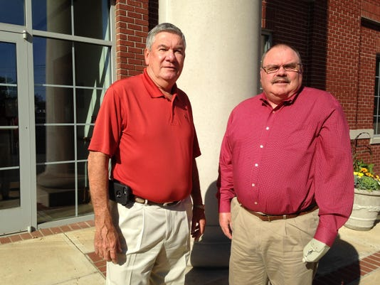 Dwain Seaton, left, is the Mayor of Chester County and Bobby King is Mayor of He