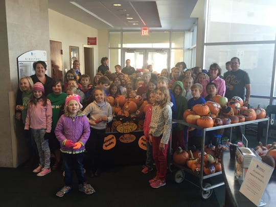 Roosevelt Elementary School, Neenah, students delivered pumpkins to patients at Theda Clark Medical Center on Oct. 16.