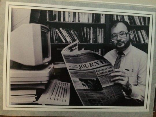 Jim Earnhardt, seen circa 1987, was editorial page editor of the Alabama Journal.