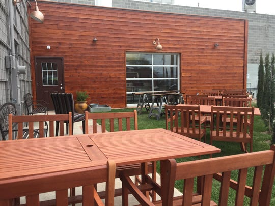 The new terrace and lawn at Feast restaurant.