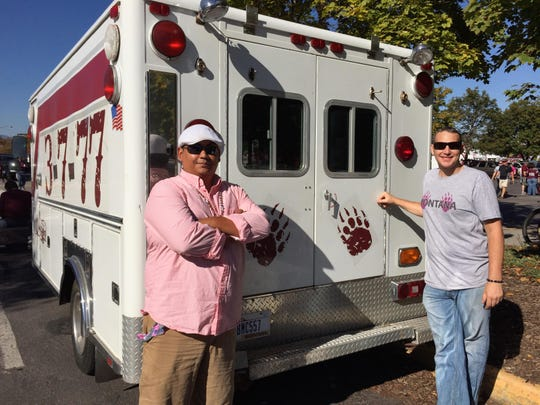 "Bryce Lawrence and Josh Trexler created the ""Montambulance"" for their tailgating rig."