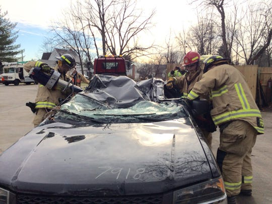 Extrication training was part of Wednesday's session for Farmington Hills firefighters.