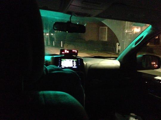The cab ride home on Thursday, Dec. 3, 2015.