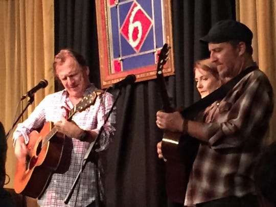 Ellis Paul, Laurie Laurie MacAllister and Peter Mulvey teamed up at a Nov. 7 concert at 6 On The Square in Oxford.