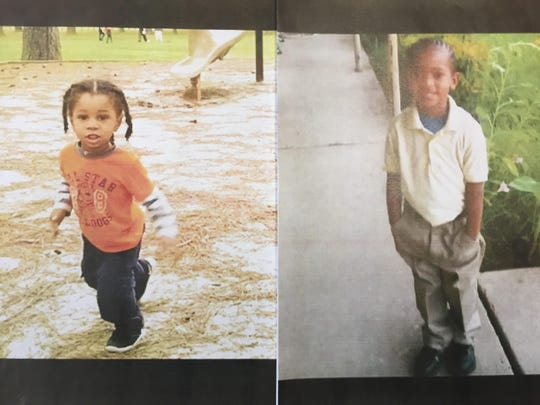 Police are searching for 2-year-old Elijah Wong (left) and 7-year-old Donnie Simmons, who were taken by their mother and her boyfriend Tuesday night.