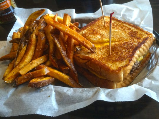 The patty-melt burger at The Blue Donkey in Stowe.