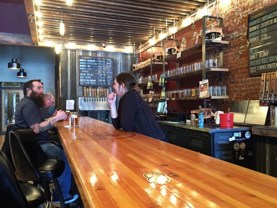 Customers at Katabatic Brewing in Livingston.