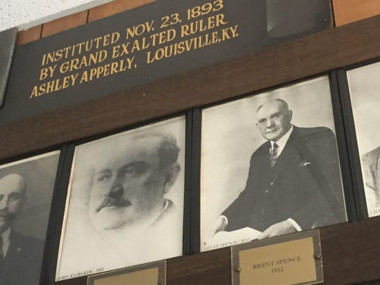 A photo of Brent Spence, who served 31 years as a congressman serving Northern Kentucky, hangs on the Newport Elks Lodge's wall in Cold Spring of former lodge exalted rulers. Spence, of Newport, is the namesake for the bridge carrying I-75 and I-71 over the Ohio River between Covington and Cincinnati. Spence was ruler of Newport Elks in 1912.