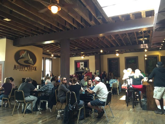 The tap room of Muddy Creek Brewery, which was extensively remodeled in Uptown Butte.