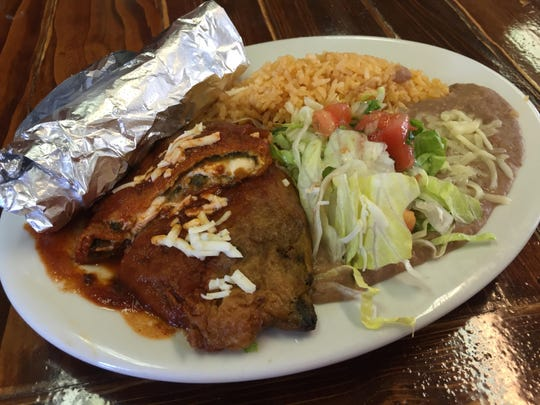 Chile relleno combination plates at Albita's Mexican Restaurant come with one or two chiles.
