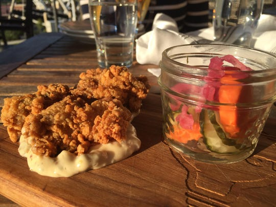 Perfectly fried oysters were part of the Southern board at The Edison.