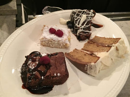 A selection of desserts are offered at the historic Gem Theater, which supplies the food for the brewery tap house next door.