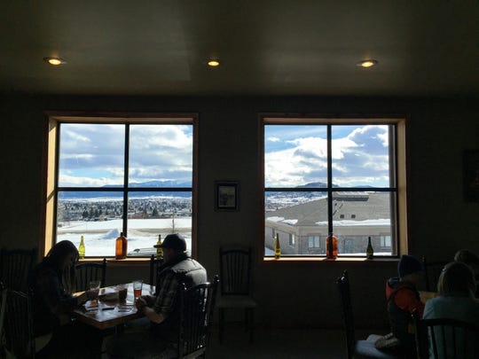 The Butte Brewing Co. has expansive views across Butte from Uptown.