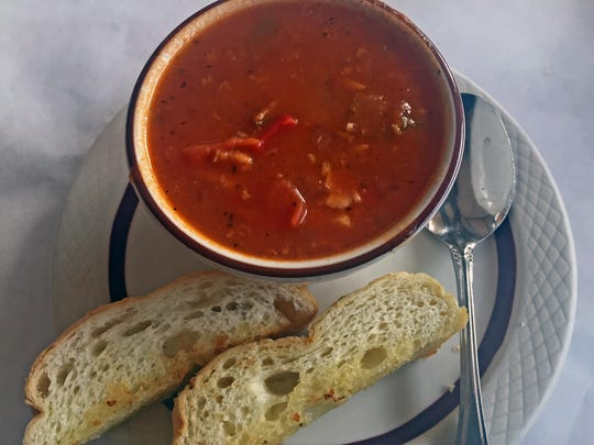 Soup from The Golden Fish Restaurant in Oldtown Salinas