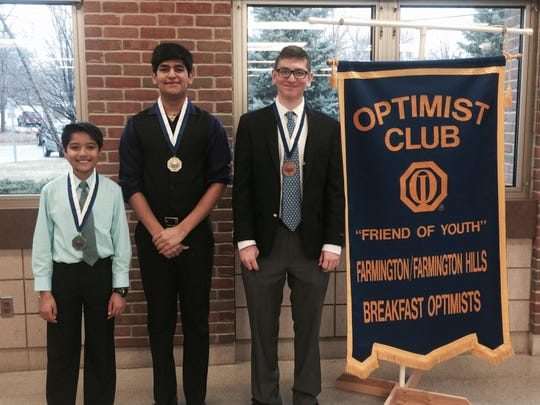 Boys winners last year were (from left) Nikhil Sheth,