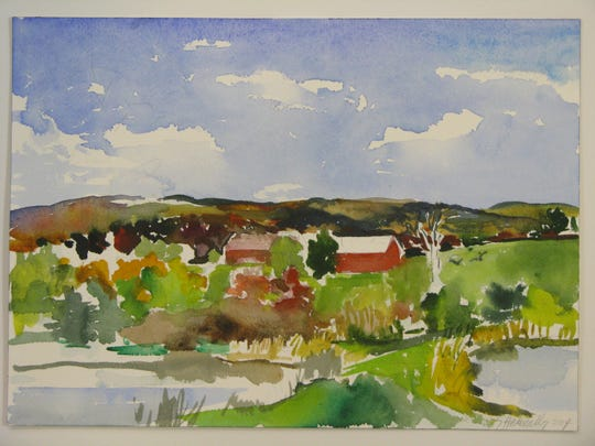 Susan Hennelly's approach to the landscape is light and airy.