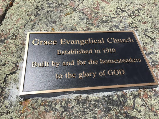 """The Grace Evangelical Church, established in 1910, was """"built by and for the homesteaders to the glory of God."""""""