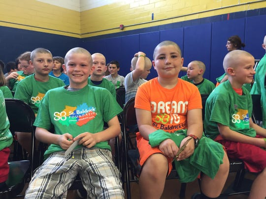 Roxbury students participated in the seventh annual St. Baldrick's event last month.