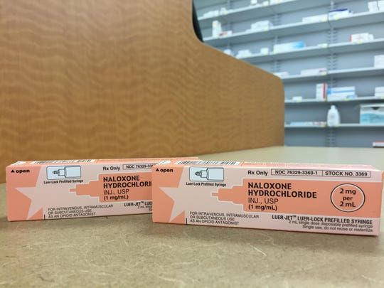 The opioid overdose drug naloxone is pictured March 30.