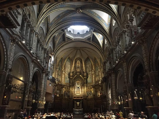 The Northeastern group took a series of day trips for their culture class, including this visit to the monastery and cathedral of Montserrat just an hour outside of Barcelona.