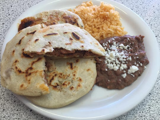 Housemade pupusas at Las Palomas Taqueria Bakery can be filled with, say, cheese, pork or loroco, a Central American vegetable.