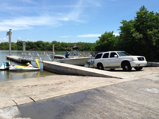 Free boat launch and trailer parking privileges are included with park admission at Lovers Key Carl E. Johnson State Park.