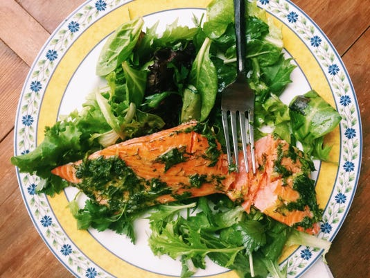 Food Deadline Herbed Salmon and Salad