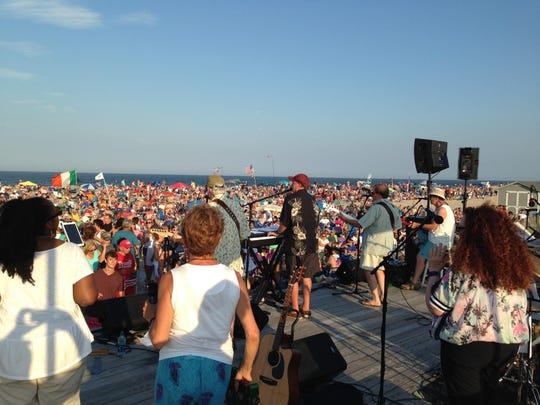 Tim McLoone and The Shirleys perform at the Sandy Hook