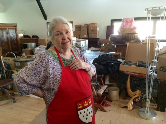 Anne Wilson Schaef stands in an upstairs area of the Peace Valley Hot Springs that is undergoing renovation. She and a group of investors bought the facility outside of Boulder in 1989.