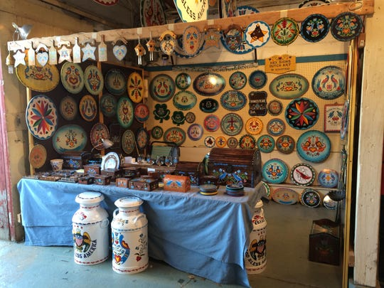At W. Schuster Hex Signs, Chrissi Kent learned the craft at age 14 from her grandfather.