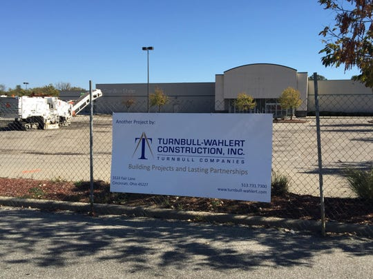 A sign and fencing were the only signs of work about to begin at Anderson Towne Center in the fall of 2015.