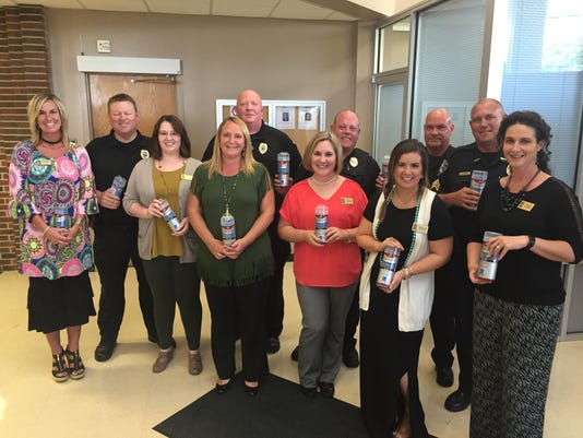 Citizen's National Bank of Vivian Donates Cooling Towels to BCPD