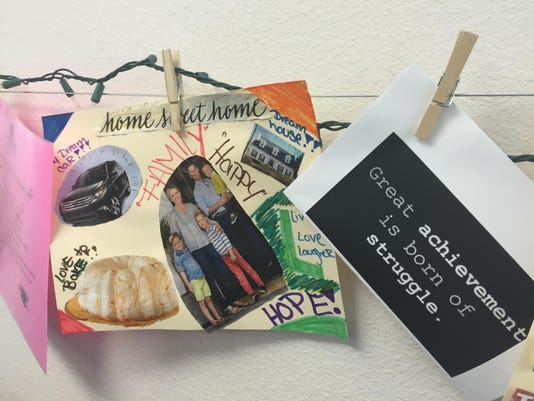Vision Board at A New Leaf s Career Center in Mesa