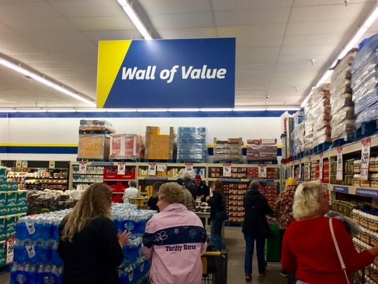 The Wall of Value, a FoodMaxx trademark, lies just to the right of the entrance at the new FoodMaxx in Sparks.