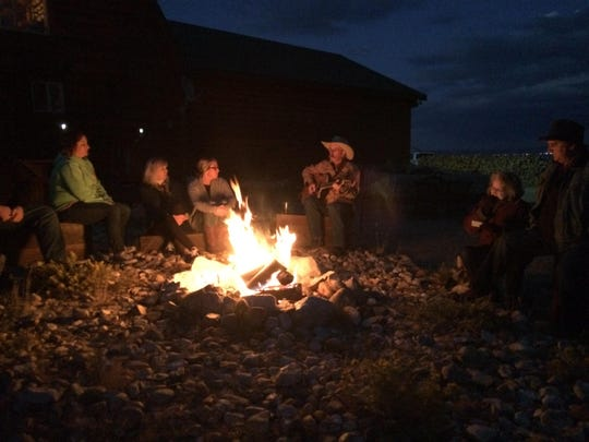 """Cookout in Wyoming during the wedding festivities of Katie Elizabeth Allston and Charles """"Chad"""" Joseph Hayes III."""