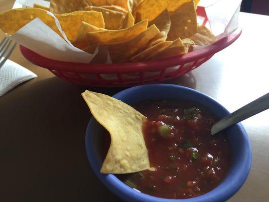 Chips and salsa from El Zacatecano Restaurant, East Alisal Street, Salinas