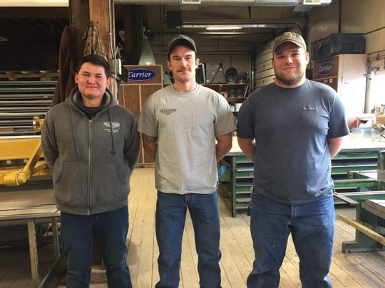 Cordell Patton, Shane McCune and Tyler Harvie met with Gov. Steve Bullock, Labor & Industry Commissioner Pam Bucy and Great Falls Legislator Casey Schreiner to talk about their experiences as apprentices at A.T. Klemens.