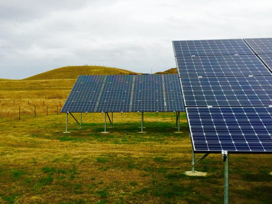 A NorthWestern Energy solar pilot project near Deer Lodge.