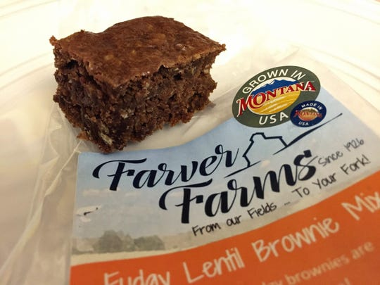 Lentil brownie made with a Farver Farms mix.