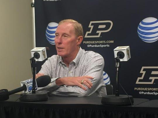 Former Purdue athletic director Morgan Burke.