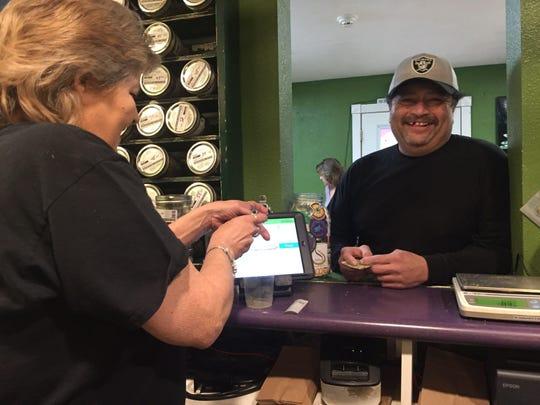 Jesse Valdez is a regular at Goshen's Canna Can Help.