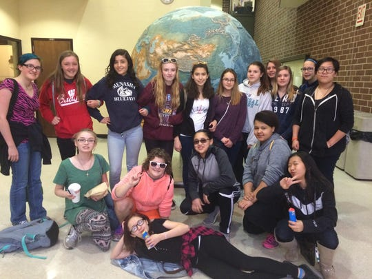 Eighth-grade girls at Maplewood Middle School traveled to UW-Madison's Primate Research Center and Geology Museum on April 7. Gully's girls is an exploratory STEM club created by Alyssa Gullixon to inspire young women in the fields of science, technology, math and engineering. The girls observed a family of marmosets at the Primate Research Center and conducted an ethology study.