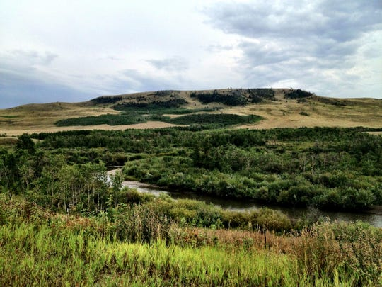 Cut Bank Creek passes through the center of the Blackfeet