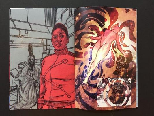 636299457901787788 Carnegie Center Pulp Art Open pages Fantastic Sagas 3 Pru.JPG