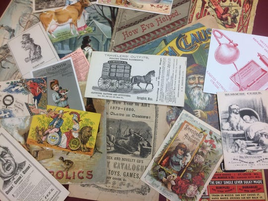 Top: Pictured is just some of the ephemera from Middlebury's Henry Sheldon Museum Archives.